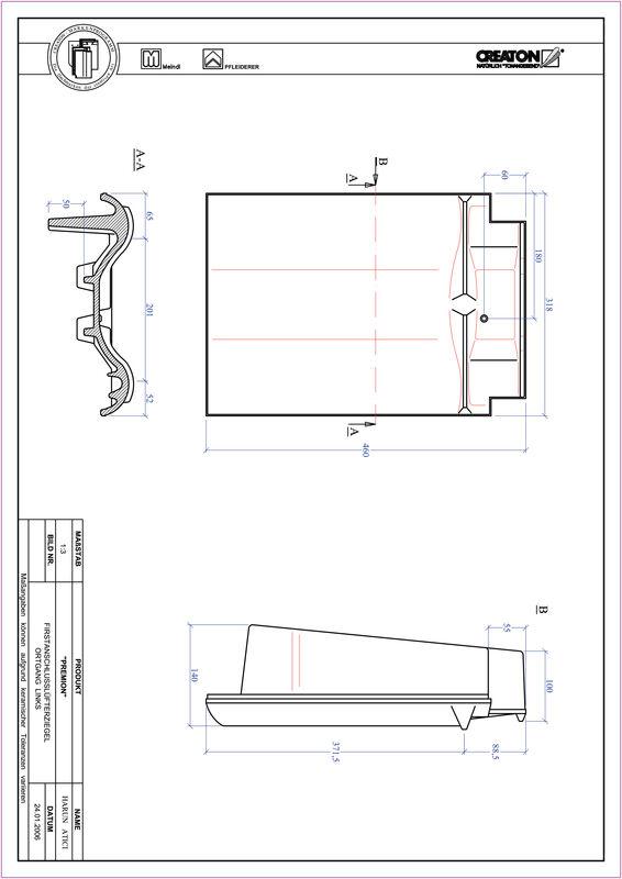 Produkt CAD-Datei PREMION Firstanschlusslüfter Ortgang links FALOGL