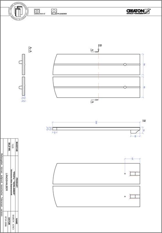 Produkt CAD-Datei PROFIL Segmentschnitt KERA-SAECHS-18-CM-LH