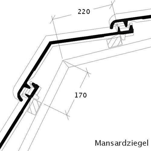 Produkt technische Zeichnung BALANCE Mansardziegel MAZ