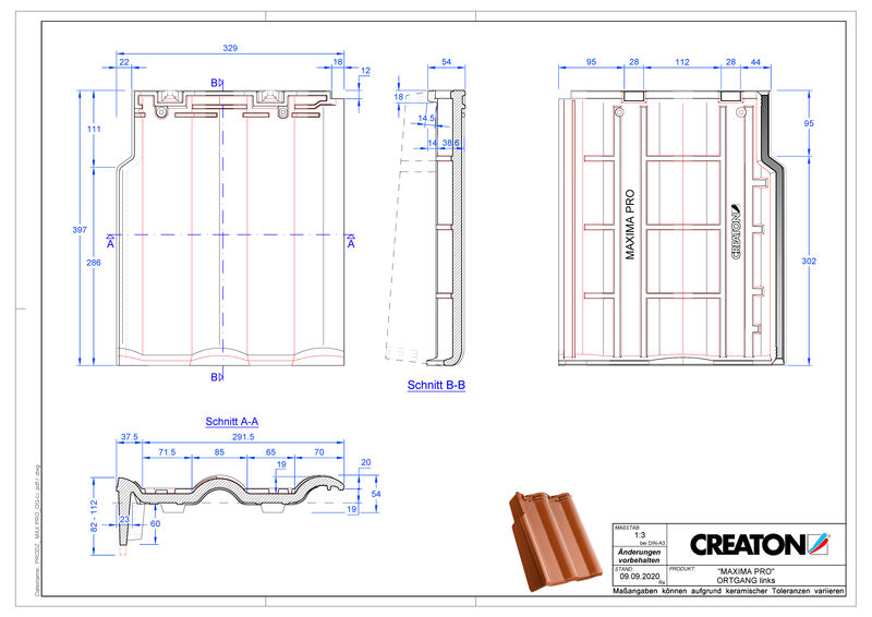 Produkt CAD-Datei MAXIMA PRO Ortgang links OGL
