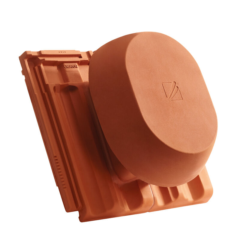 RUS SIGNUM keramischer Wrasenlüfter DN 200 mm inkl. Unterdachanschlussadapter