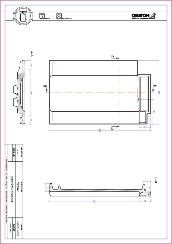 Produkt CAD-Datei TERRA OPTIMA Doppelwulstziegel DWZ