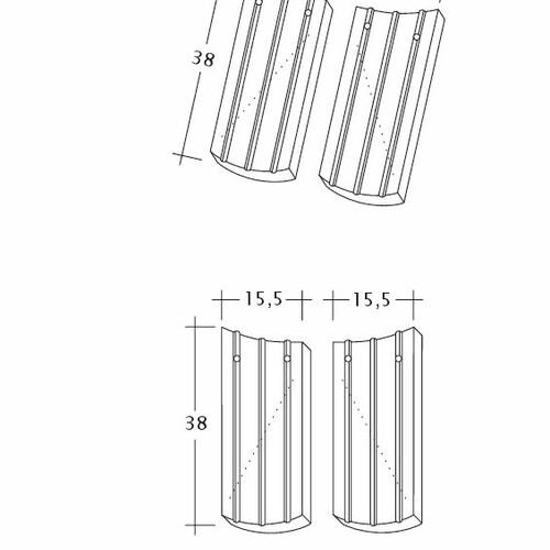 Produkt technische Zeichnung PROFIL Kera-Saechs-15cm-AnAbfuehrer