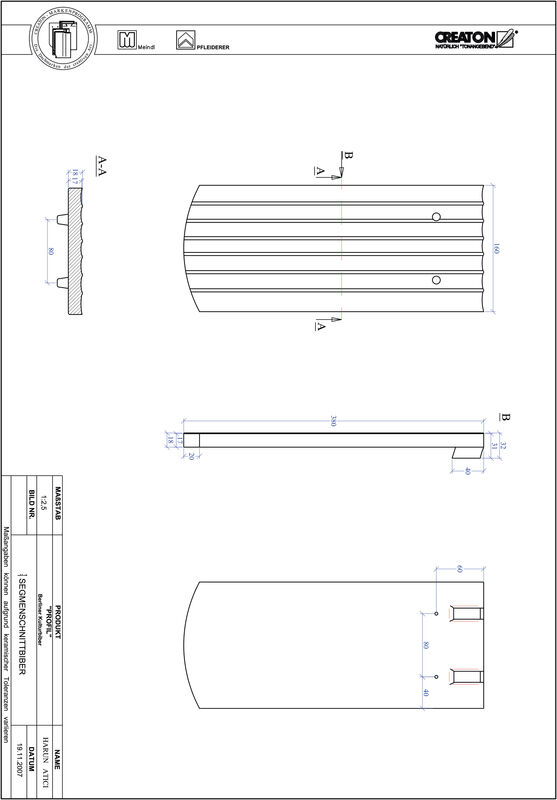 Produkt CAD-Datei PROFIL Segmentschnitt BKBI-1-1