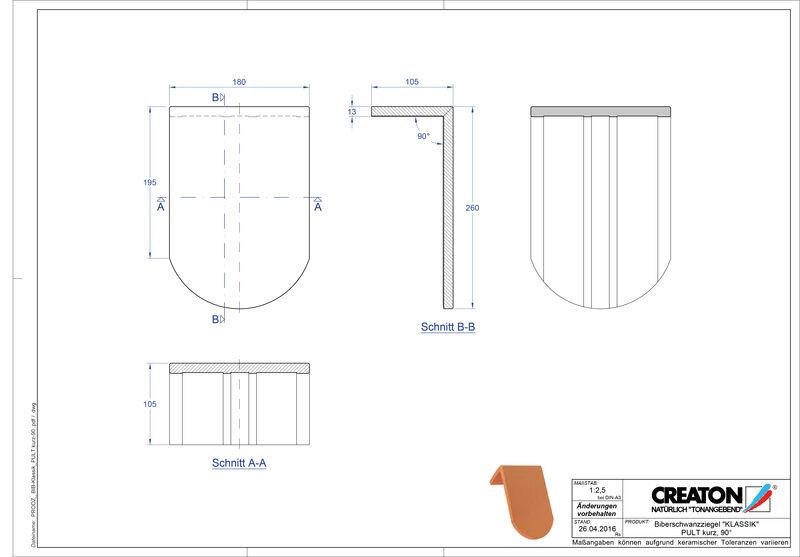 Produkt CAD-Datei KLASSIK Rundschnitt RUND-PULT-kurz