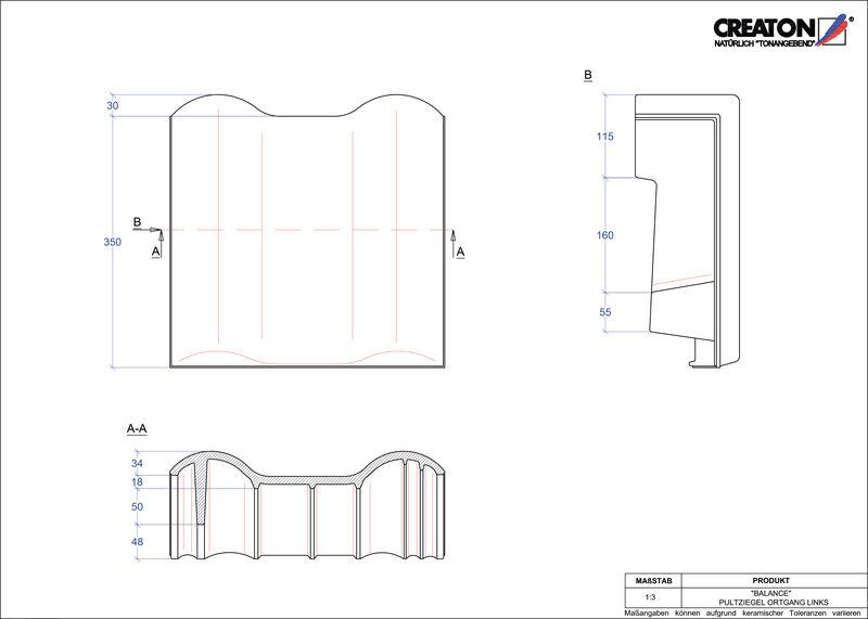 Produkt CAD-Datei BALANCE Pultziegel Ortgang links PULTOGL