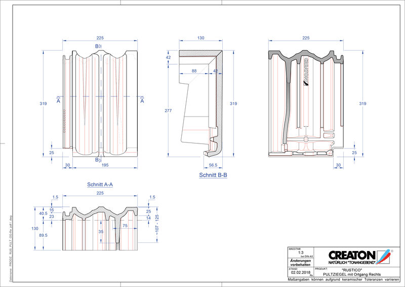 Produkt CAD-Datei RUSTICO Pultziegel Ortgang rechts PULTOGR
