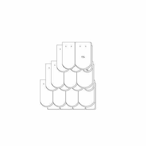Produkt technische Zeichnung KLASSIK OGAusbildung-Kronendeckung-3-4-1-1-4-Traufziegel
