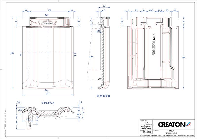 Produkt CAD-Datei MZ3 NEU Ortgang links OGL