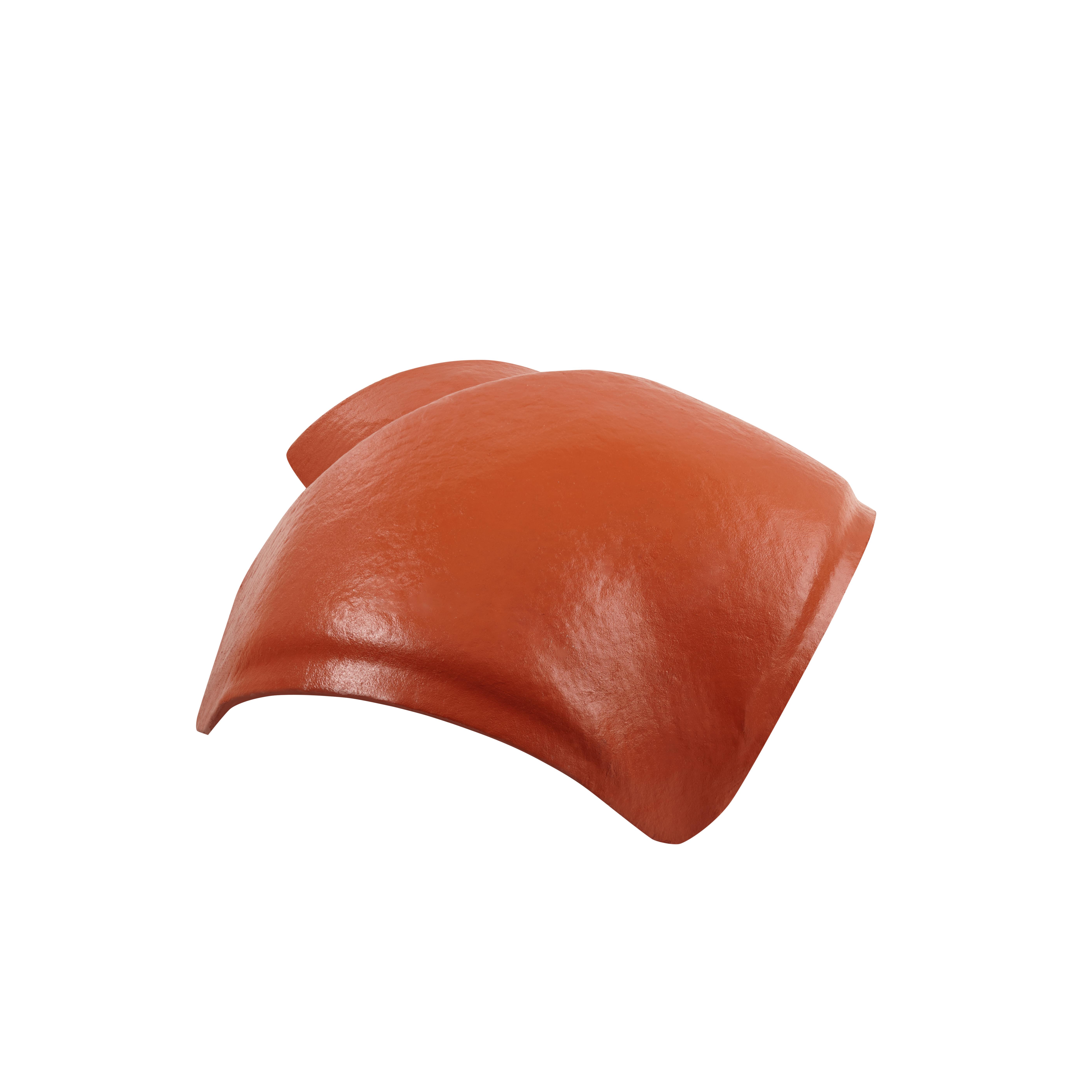 Walmkappe 3-achsig für profilierte Dachsteine klassikrot