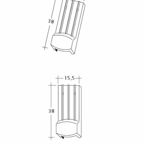 Produkt technische Zeichnung PROFIL Kera-Saechs-15cm-LUEFTZ