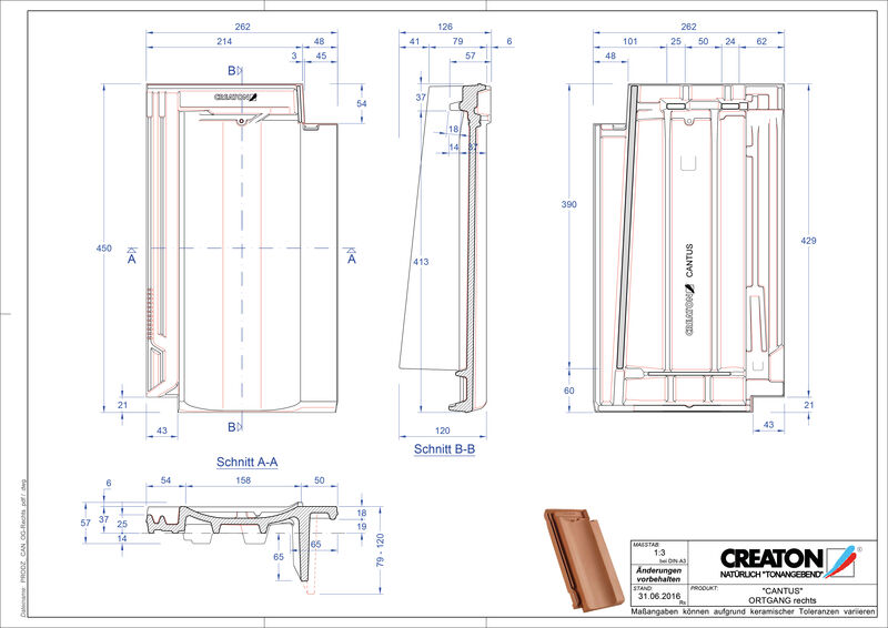 Produkt CAD-Datei CANTUS Ortgang rechts OGR