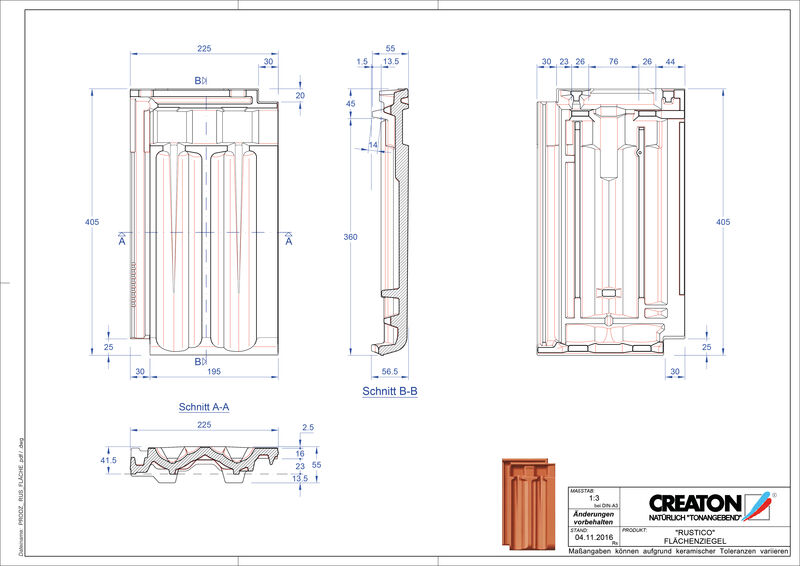 Produkt CAD-Datei RUSTICO Fläche FLA