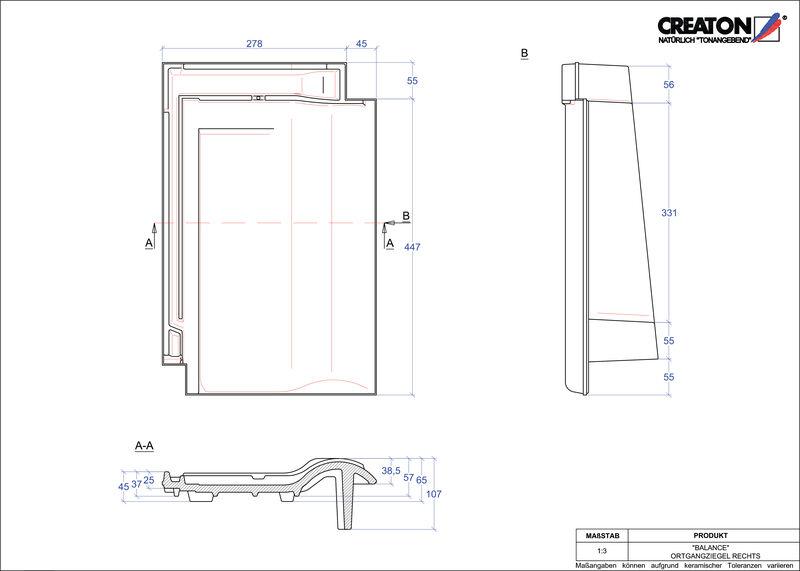 Produkt CAD-Datei BALANCE Ortgang rechts OGR