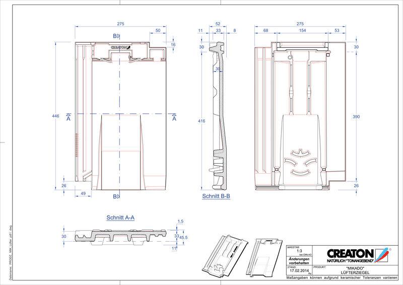 Produkt CAD-Datei MIKADO Lüfterziegel LUEFTZ