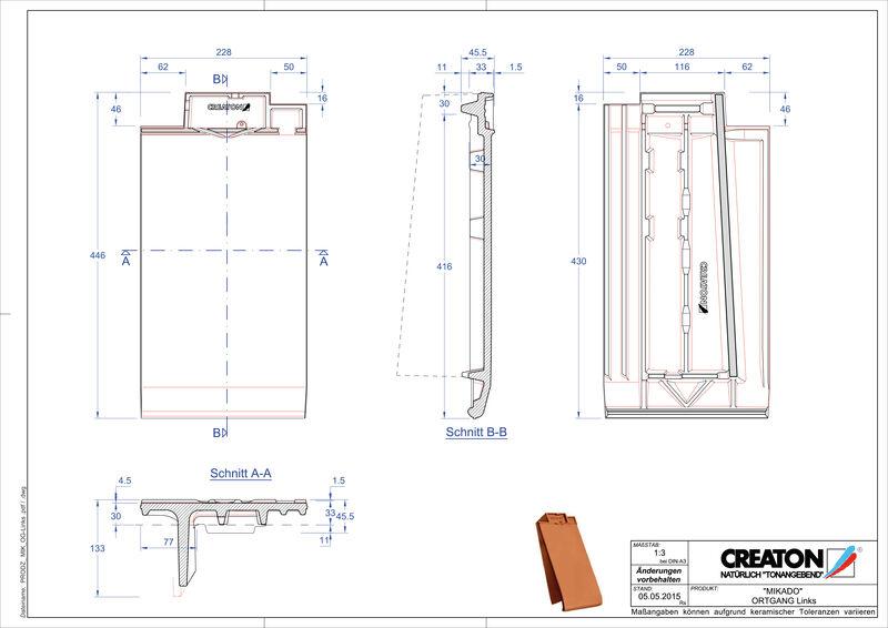 Produkt CAD-Datei MIKADO Ortgang links OGL