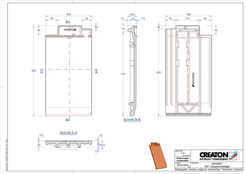 Produkt CAD-Datei MIKADO Doppelwulstziegel DWZ