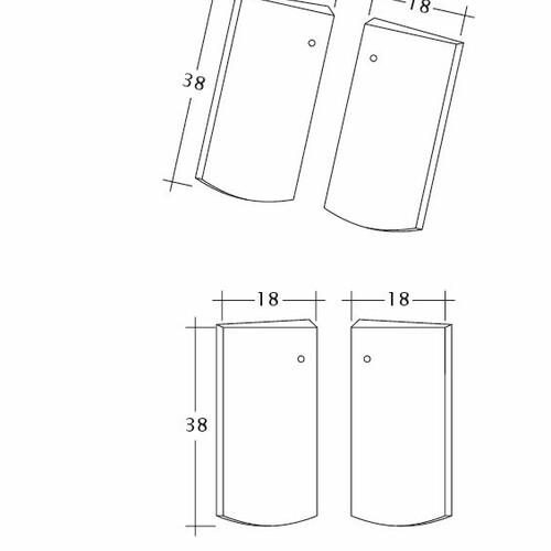 Produkt technische Zeichnung PROFIL Kera-Saechs-18cm-Unterlaeufer