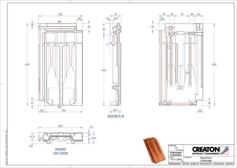 Produkt CAD-Datei RUSTICO Lüfterziegel LUEFTZ