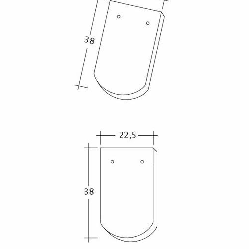 Produkt technische Zeichnung KLASSIK 1-1-4