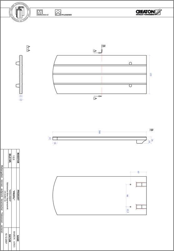 Produkt CAD-Datei PROFIL Segmentschnitt KERA-SAECHS-15-CM-1-1