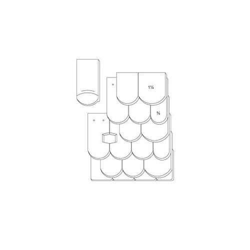 Produkt technische Zeichnung KLASSIK OGAusbildung-Doppeldeckung-3-4-1-1-4-Traufziegel