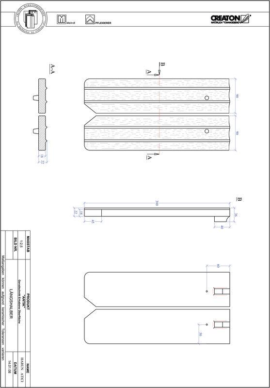 Produkt CAD-Datei ANTIK Geradschnitt GER-LH