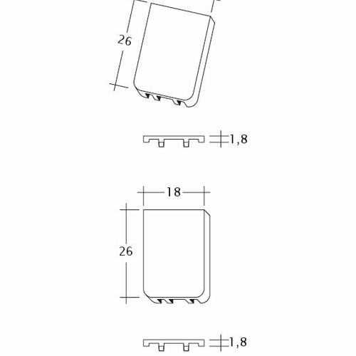Produkt technische Zeichnung KLASSIK Traufluefter