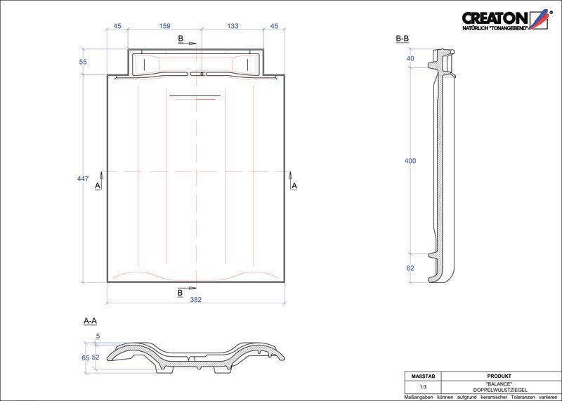 Produkt CAD-Datei BALANCE Doppelwulstziegel DWZ