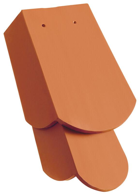 KLASSIK Rundschnitt Ortgangziegel 1 1/4 rechts mit langem Seitenlappen ca. 11 cm