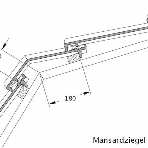 Produkt technische Zeichnung CANTUS Mansardziegel MAZ