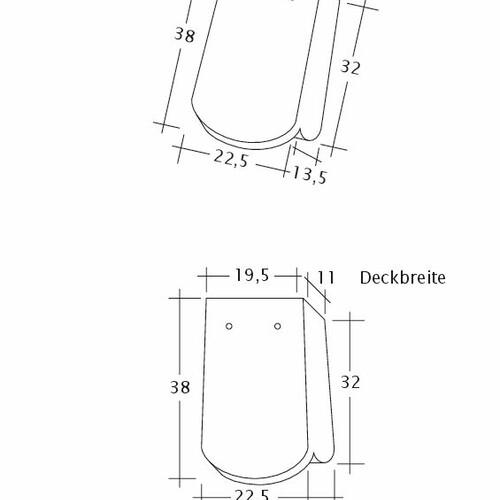 Produkt technische Zeichnung KLASSIK OG-1-1-4