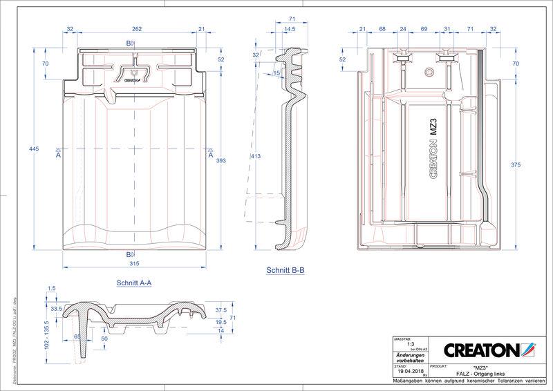 Produkt CAD-Datei MZ3 NEU Firstanschlusslüfter Ortgang links FALOGL
