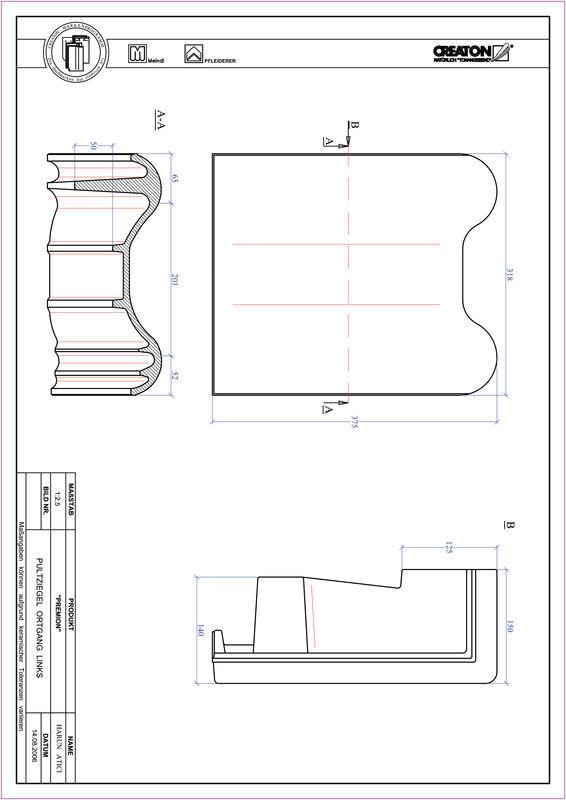 Produkt CAD-Datei PREMION Pultziegel Ortgang links PULTOGL