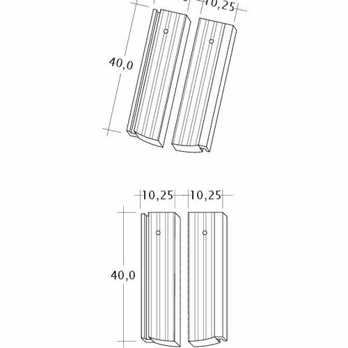 Produkt technische Zeichnung PROFIL Strangfalz-gewellt-1-2