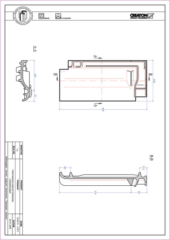 Produkt CAD-Datei PREMION Firstanschlusslüfter Längshalber FALLH