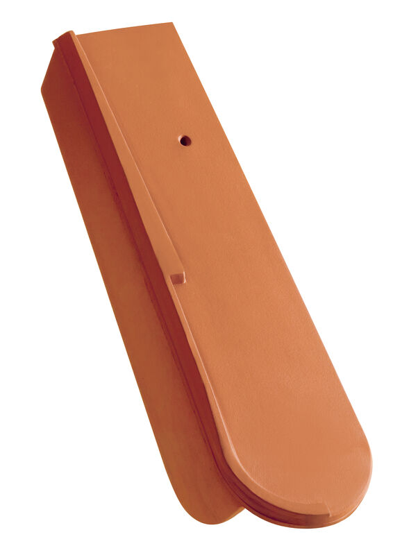 Schiebe-Ortgang mit kurzem Seitenlappen ca. 5 cm rechts