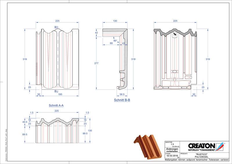 Produkt CAD-Datei RUSTICO Pultziegel PULT