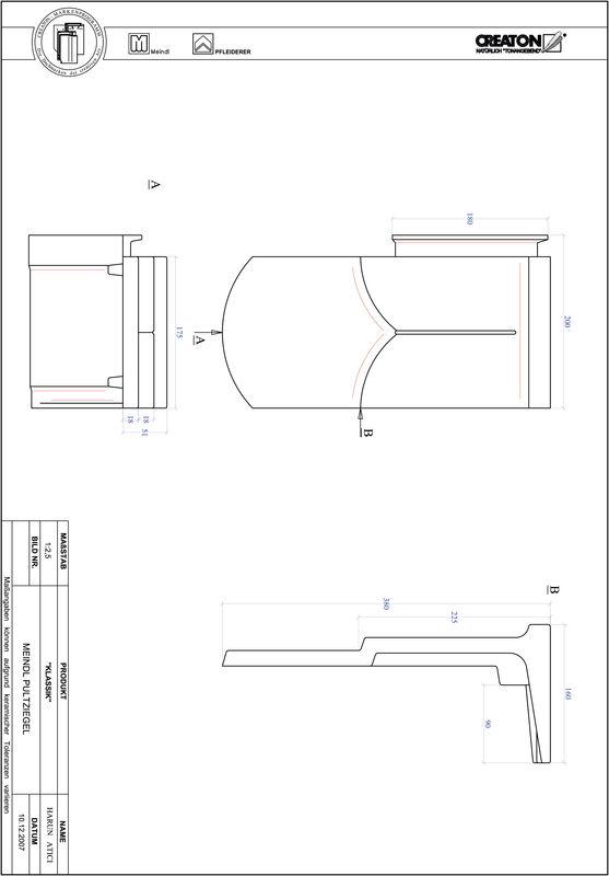 Produkt CAD-Datei KLASSIK Rundschnitt RUND-PULT