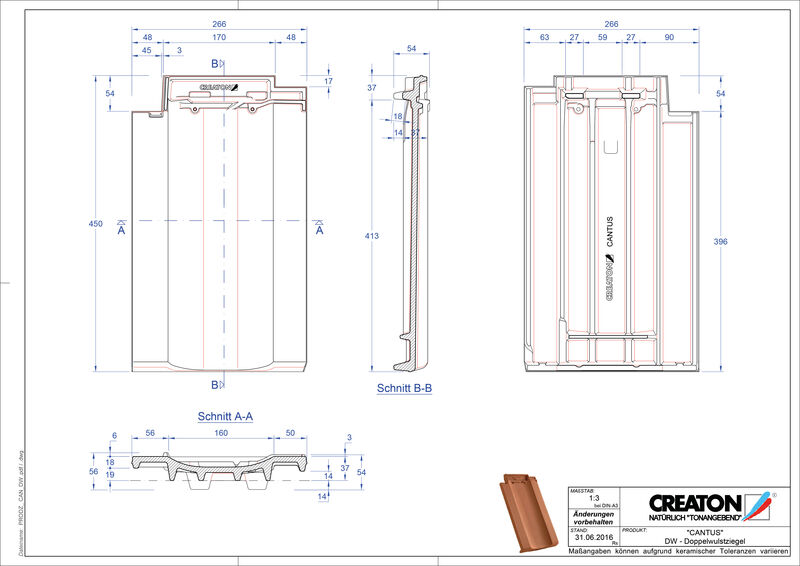 Produkt CAD-Datei CANTUS Doppelwulstziegel DWZ