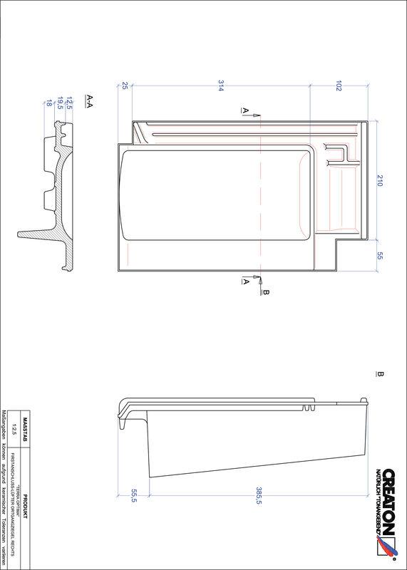 Produkt CAD-Datei TERRA OPTIMA Firstanschlusslüfter Ortgang rechts FALOGR