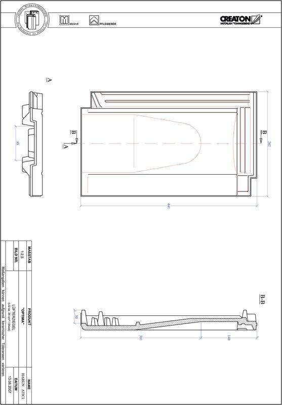 Produkt CAD-Datei TERRA OPTIMA Lüfterziegel LUEFTZ