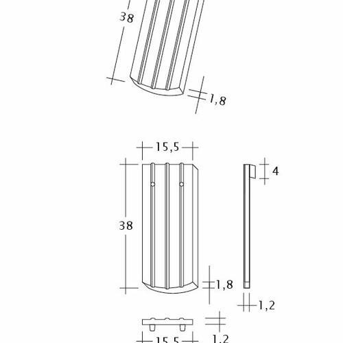 Produkt technische Zeichnung PROFIL Kera-Saechs-15cm-1-1