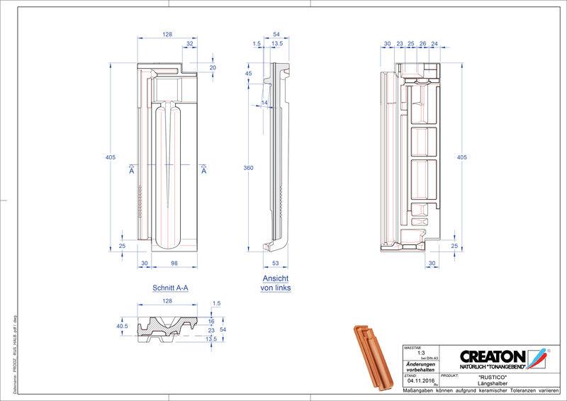 Produkt CAD-Datei RUSTICO Längshalber LH
