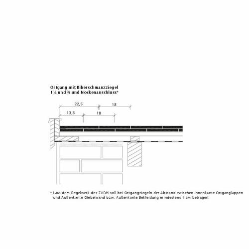 Produkt technische Zeichnung KLASSIK OG-Ausbildung-Biber-3-4-1-4-Nockenanschluss