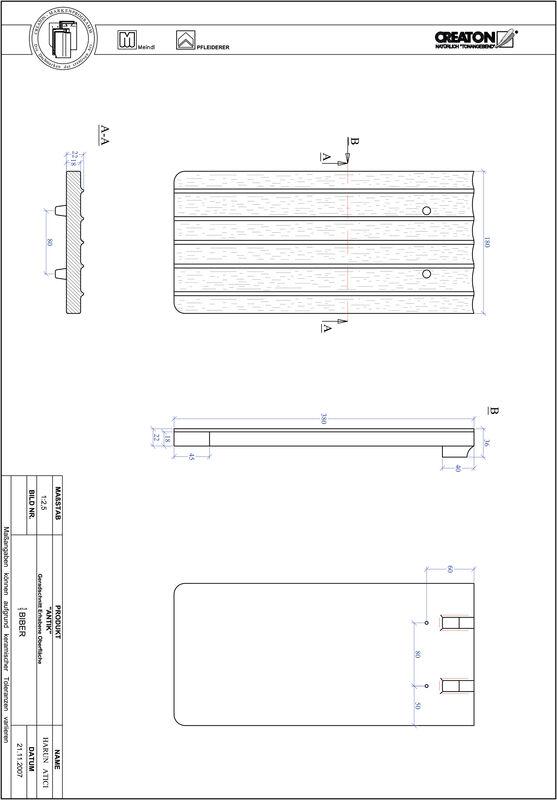 Produkt CAD-Datei ANTIK Geradschnitt GER-ERHO