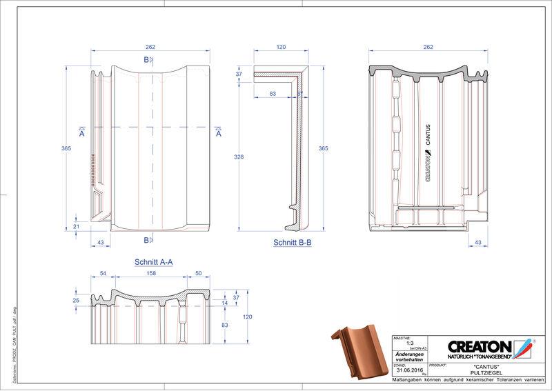 Produkt CAD-Datei CANTUS Pultziegel PULT