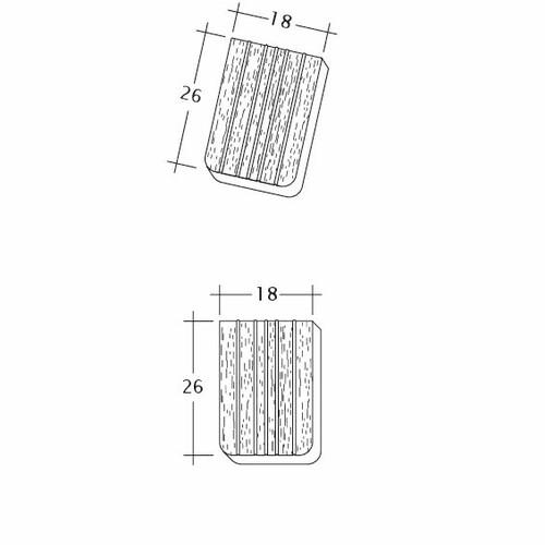 Produkt technische Zeichnung ANTIK ErhO-Ger-Traufziegel