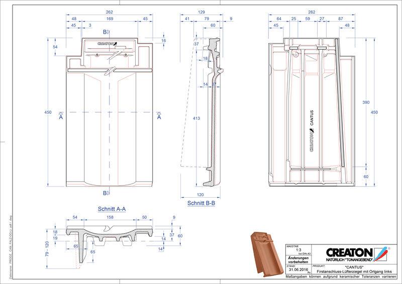 Produkt CAD-Datei CANTUS Firstanschlusslüfter Ortgang links FALOGL