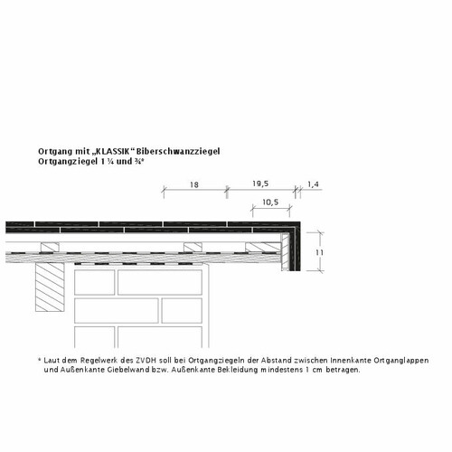 Produkt technische Zeichnung KLASSIK OBR KLASSIK-3-4-1-4-Ortgang